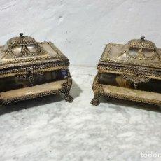 Antigüedades: PAREJA DE JOYEROS. Lote 192975485