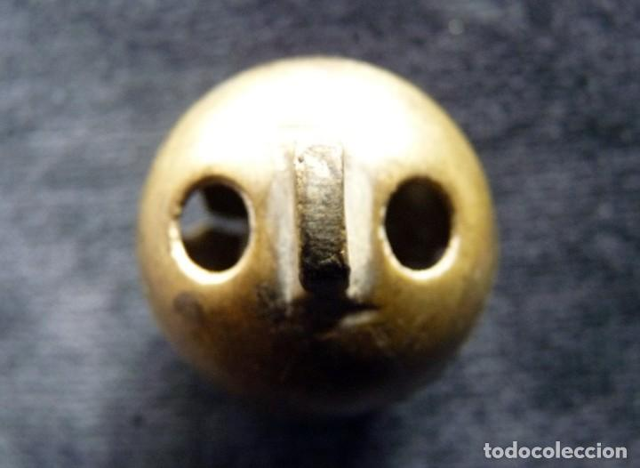 Antigüedades: ANTIGUO CASCABEL DE BRONCE. VALENCIA, SIGLO XIX. DIÁMETRO 3,6 cm. (9) - Foto 4 - 192976407