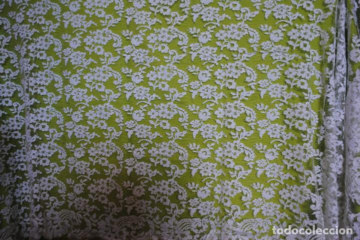 Antigüedades: Mantilla blanca - Foto 2 - 145176590