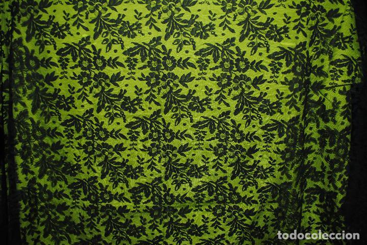 Antigüedades: Mantilla negra grandes dimensiones - Foto 3 - 192984082