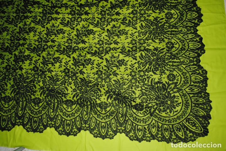 Antigüedades: Mantilla negra grandes dimensiones - Foto 6 - 192984082