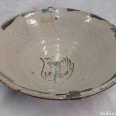 Antigüedades: CUENCO DE CERÁMICA ANTIGUO TERUEL. Lote 193030755