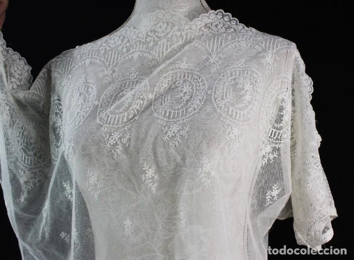 Antigüedades: 161 A Preciosa camisa realizada con encaje de gran fineza. Botones perlados - Foto 7 - 193054315