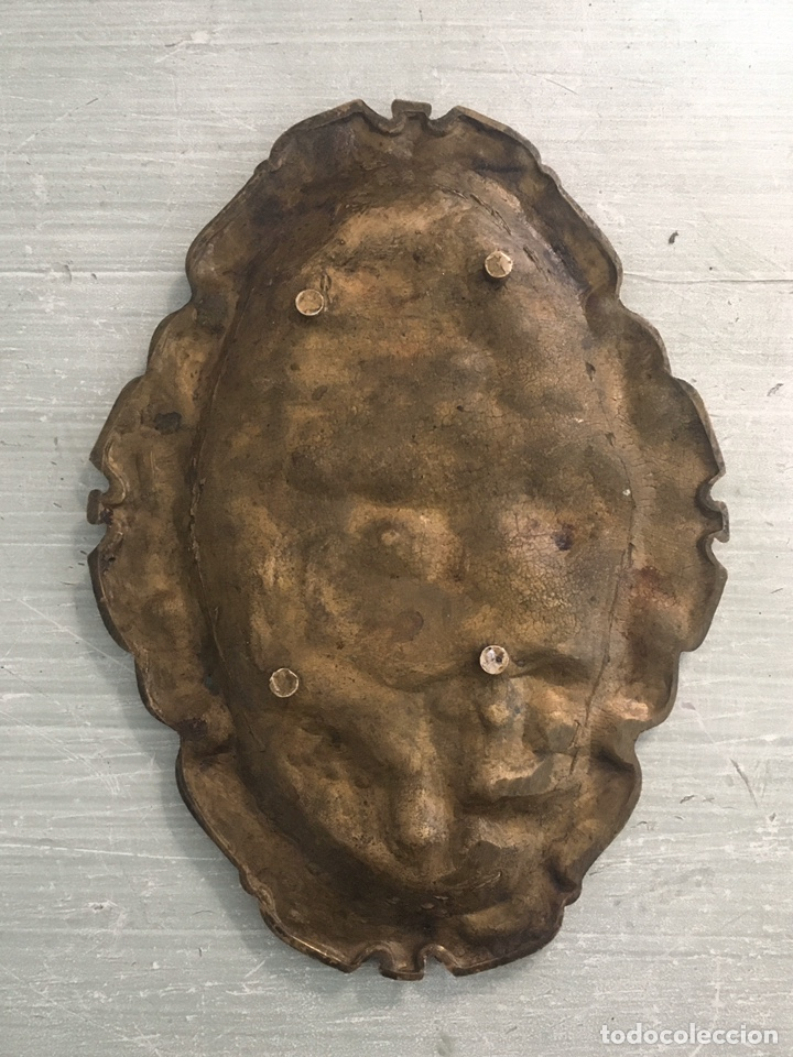 Antigüedades: cenicero de laton antiguo - Foto 2 - 193061253
