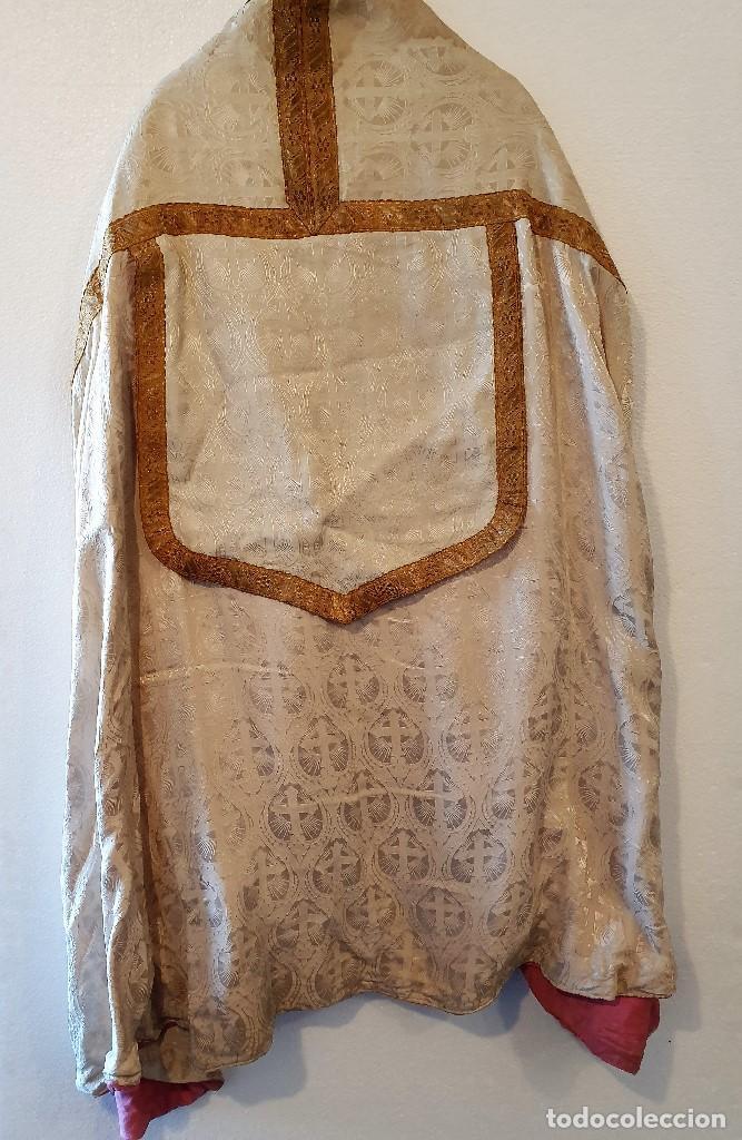 Antigüedades: ANTIGUA CAPA PLUVIAL CON CASULLA - Foto 4 - 193165540