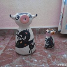 Antigüedades: JARRAS DE VACA DE CERAMICA. Lote 193182955