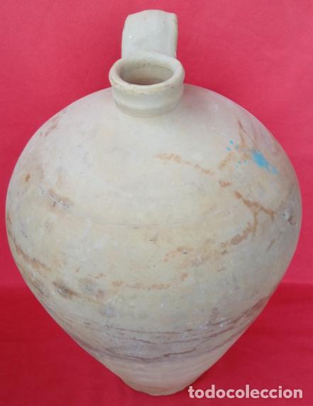 Antigüedades: CÁNTARO AGUA ALFAR DE LUCENA S. XIX. 44 CMS DE ALTURA (BUEN TAMAÑO). CIRCUNFERENCIA 83 CMS. - Foto 2 - 193184096