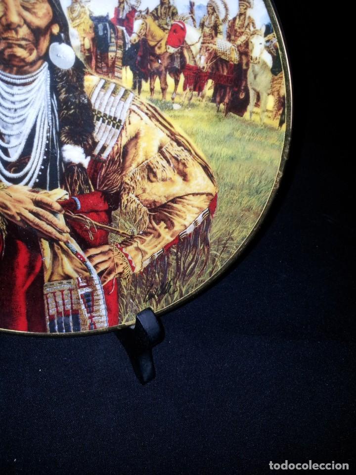 Antigüedades: PAUL CALLE - PLATO DECORATIVO DE LIMITADA EDICIÓN, INDIO NATIVO (CHIEF JOSEPH-MAN OF PEACE) - Foto 3 - 193199578