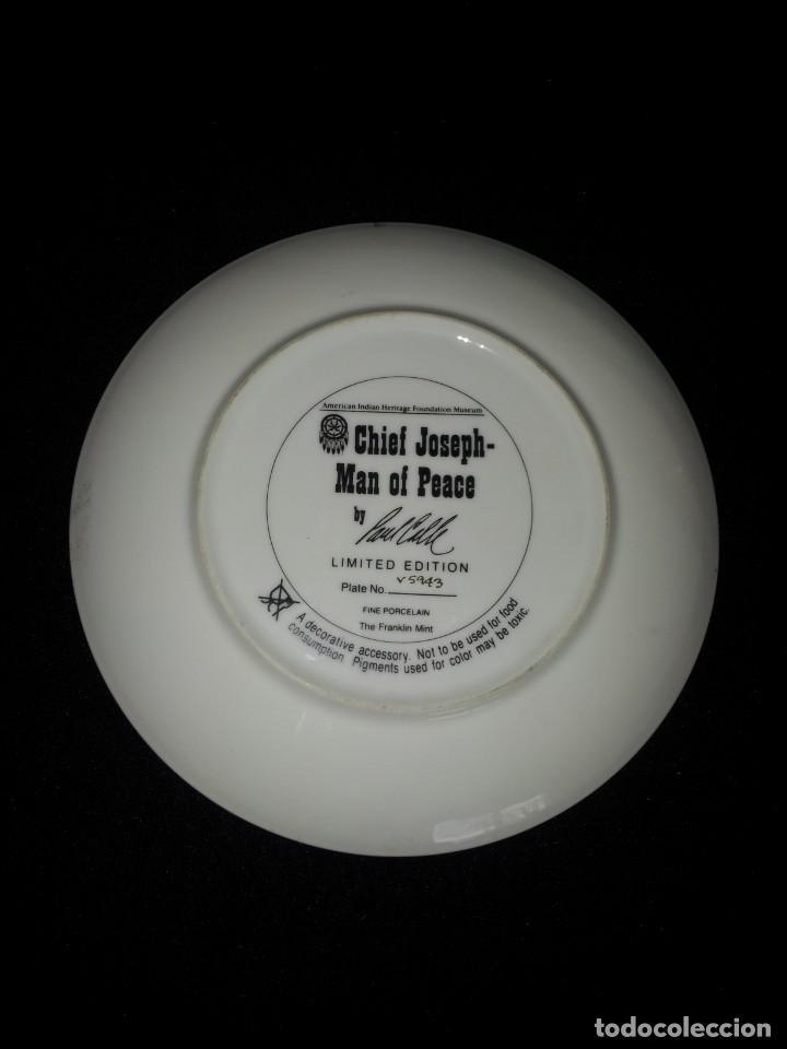 Antigüedades: PAUL CALLE - PLATO DECORATIVO DE LIMITADA EDICIÓN, INDIO NATIVO (CHIEF JOSEPH-MAN OF PEACE) - Foto 4 - 193199578