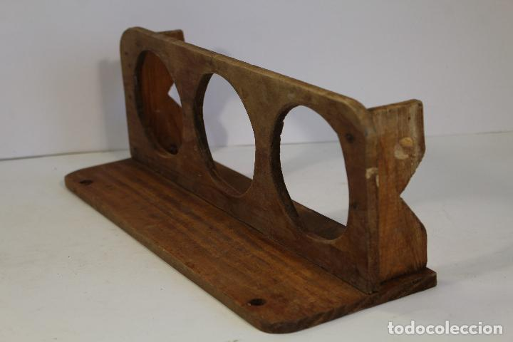 Antigüedades: jarrera pequeña de madera - Foto 2 - 193200492