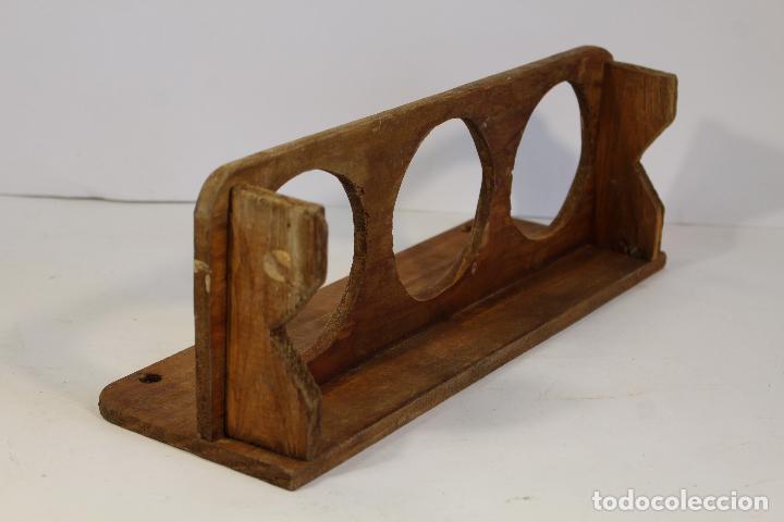 Antigüedades: jarrera pequeña de madera - Foto 3 - 193200492