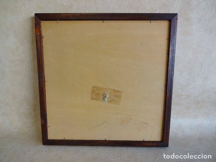Antigüedades: cuadro con 4 azulejos baldosas modernistas enmarcadas - Foto 9 - 57918780