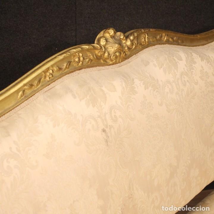 Antigüedades: Sofá francés dorado en estilo Luis XV - Foto 3 - 193216450