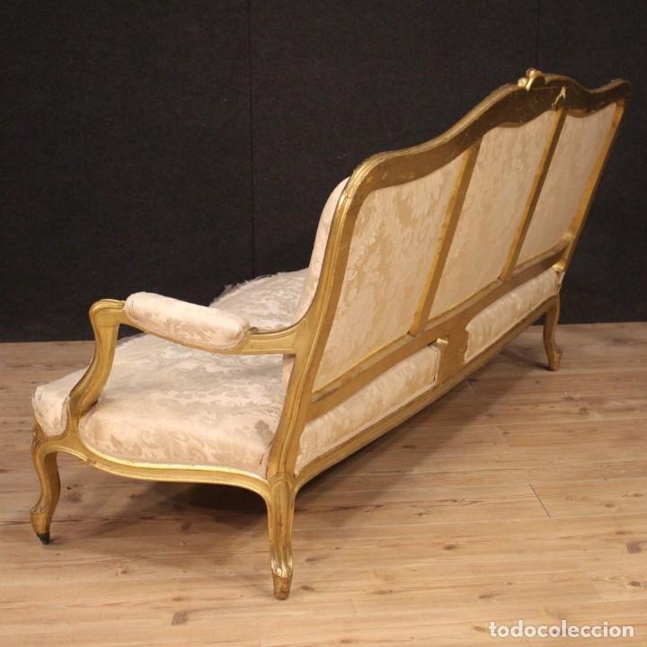 Antigüedades: Sofá francés dorado en estilo Luis XV - Foto 8 - 193216450