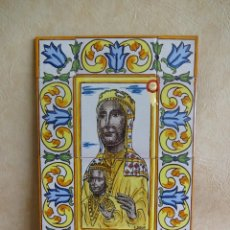 Antigüedades: AZULEJOS PINTADOS A MANO MORENETA MONTSERRAT E.PASCUAL 45 CM X 30 CM. Lote 129655455