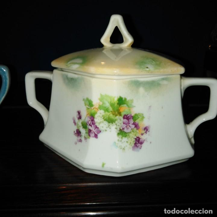 Antigüedades: Azúcares Art Nouveau de porcelana de Manises del siglo xix - Foto 2 - 193236756