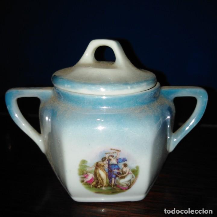 Antigüedades: Azúcares Art Nouveau de porcelana de Manises del siglo xix - Foto 3 - 193236756