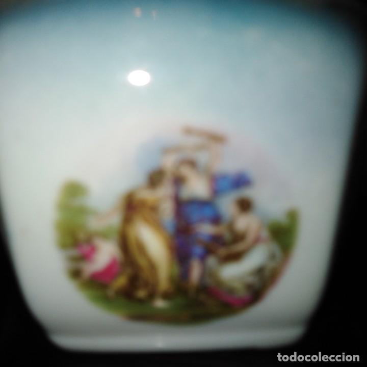 Antigüedades: Azúcares Art Nouveau de porcelana de Manises del siglo xix - Foto 4 - 193236756