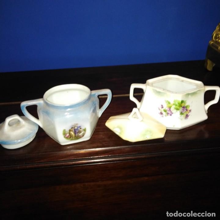 Antigüedades: Azúcares Art Nouveau de porcelana de Manises del siglo xix - Foto 7 - 193236756