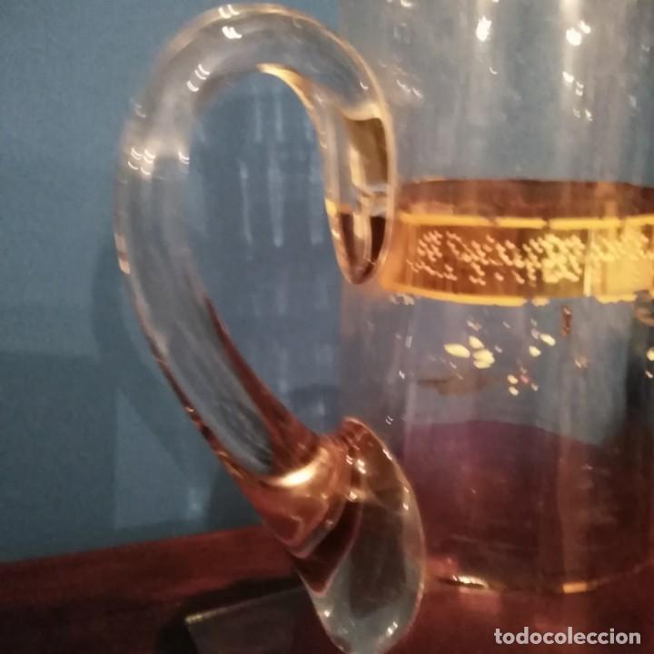 Antigüedades: Juego de agua modernista del siglo xix de cristal esmaltado - Foto 7 - 193241165