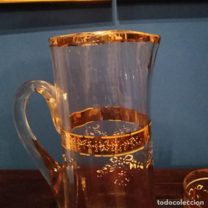 Antigüedades: Juego de agua modernista del siglo xix de cristal esmaltado - Foto 9 - 193241165