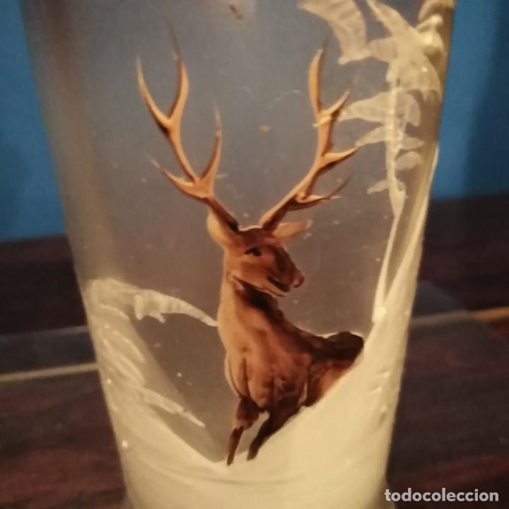 Antigüedades: antiguo vaso de cristal de la Real fábrica de la Granja del siglo xix, soplado y esmaltado a mano - Foto 8 - 193242915