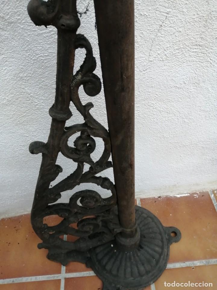 Antigüedades: BRAZO DE FAROLA DE CALLE ANTIGUO HIERRO GRANDE - Foto 2 - 193247011