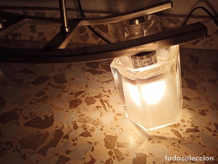 Antigüedades: Una lámpara con cuatro bombillas, telescópica, se encuentra en Fabrilamp I-5061DA-04,1990s - Foto 11 - 193263458