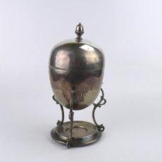 Antigüedades: COPA O RECIPIENTE METAL CROMADO PARA CALENTAR O COCER HUEVOS -PRIMERA MITAD S.XX. Lote 193290095
