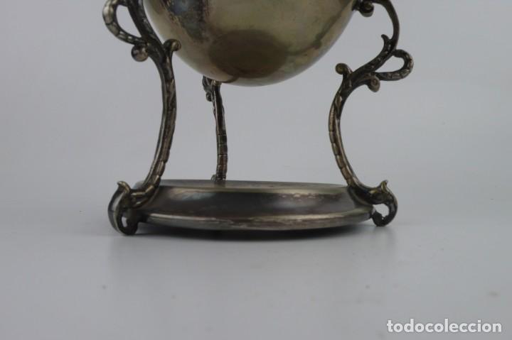 Antigüedades: Copa o recipiente metal cromado para calentar o cocer huevos -Primera mitad S.XX - Foto 5 - 193290095