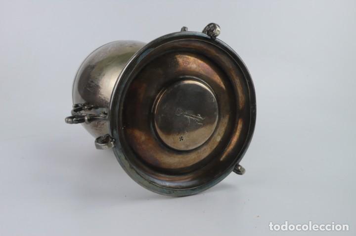 Antigüedades: Copa o recipiente metal cromado para calentar o cocer huevos -Primera mitad S.XX - Foto 8 - 193290095