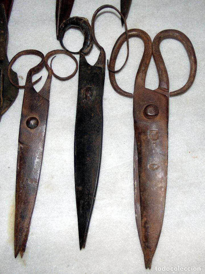 Antigüedades: INTERESATE COLECCION TIJERAS DE ESQUILAR, FORJA, SIGLO XIX, MARCAS, VER FOTOS - Foto 8 - 193346238
