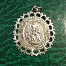 Antigüedades: MEDALLA DE PLATA VIRGEN DEL ROSARIO SAN VICENTE FERRER - S XVIII ( RARA ). Lote 193348485