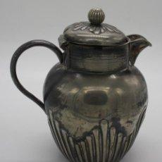 Antigüedades: EXCELENTE TETERA INGLESA EN METAL PLATEADO CON RELIEVES - MARCAS SELLO EN LA BASE. Lote 193361153
