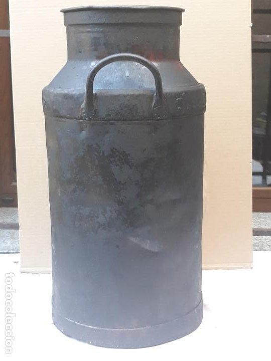 Antigüedades: CANTARA METALICA ANTIGUA DE : LA CENTRAL QUESERA S.A. - Foto 4 - 193374182