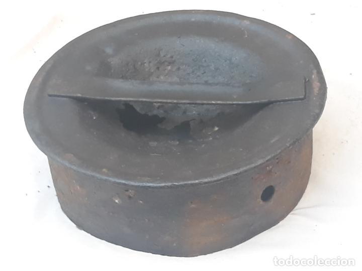 Antigüedades: CANTARA METALICA ANTIGUA DE : LA CENTRAL QUESERA S.A. - Foto 12 - 193374182