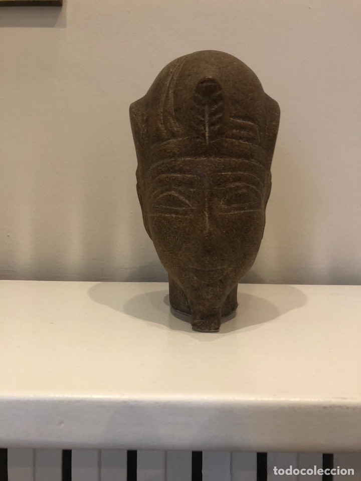 CABEZA EGIPCIA (Antigüedades - Hogar y Decoración - Otros)