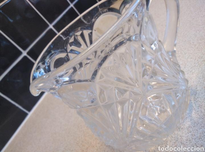 Antigüedades: Jarra de agua o refrescos cristal tallado inglesa. Alto 12 cm. Diámetro boca 10 cm - Foto 5 - 193389263
