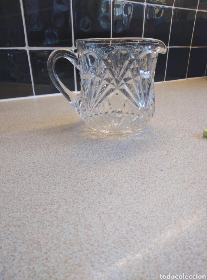 Antigüedades: Jarra de agua o refrescos cristal tallado inglesa. Alto 12 cm. Diámetro boca 10 cm - Foto 6 - 193389263