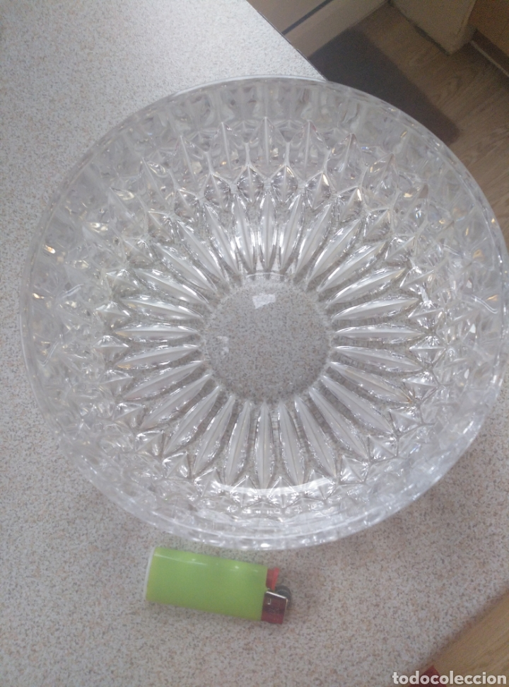 Antigüedades: Bol, ensaladera, frutero cristal tallado inglés. Diámetro 15,50 cm. Altura 7 cm. - Foto 5 - 193389880