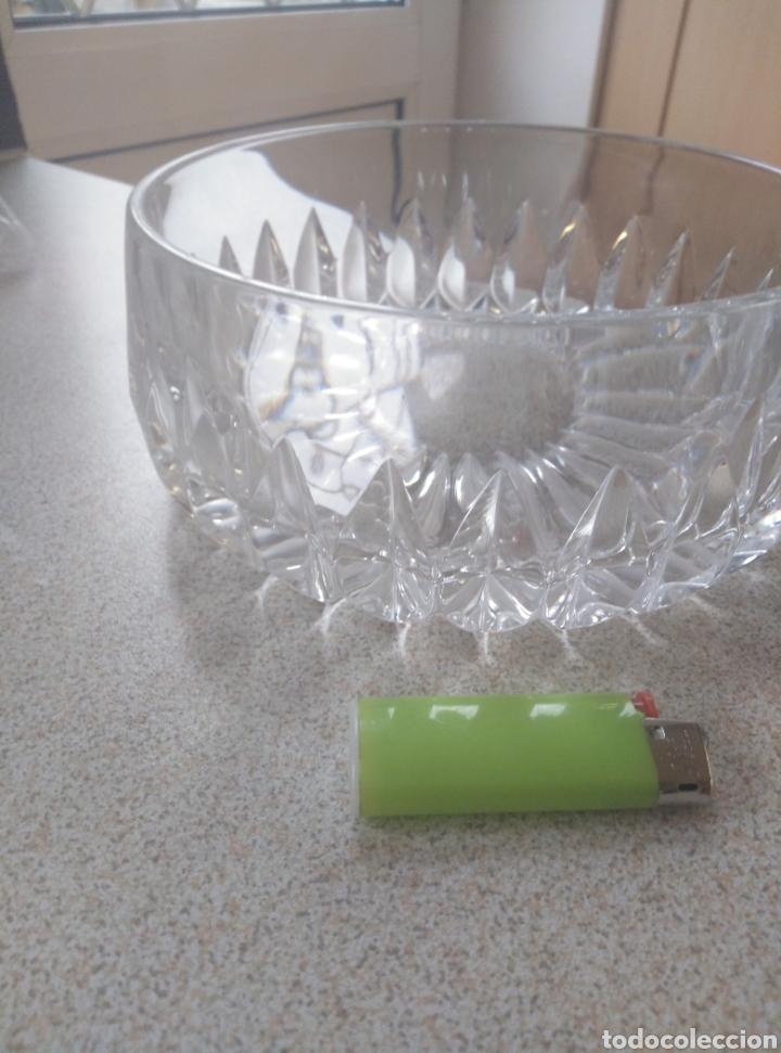Antigüedades: Bol, ensaladera, frutero cristal tallado inglés. Diámetro 15,50 cm. Altura 7 cm. - Foto 2 - 193389880