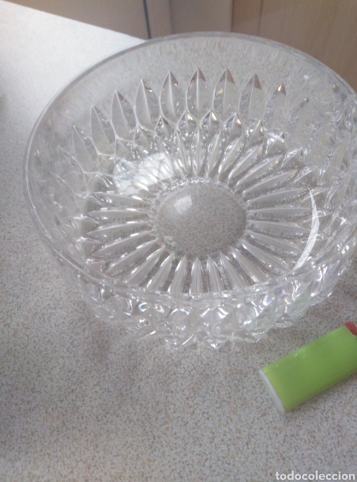 Antigüedades: Bol, ensaladera, frutero cristal tallado inglés. Diámetro 15,50 cm. Altura 7 cm. - Foto 3 - 193389880