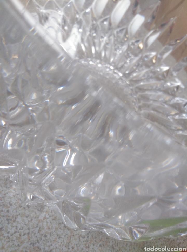 Antigüedades: Bol, ensaladera, frutero cristal tallado inglés. Diámetro 15,50 cm. Altura 7 cm. - Foto 6 - 193389880