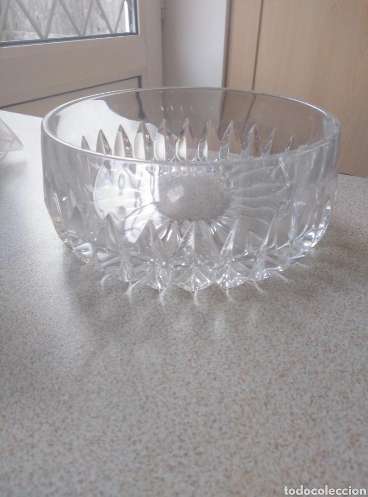 Antigüedades: Bol, ensaladera, frutero cristal tallado inglés. Diámetro 15,50 cm. Altura 7 cm. - Foto 7 - 193389880