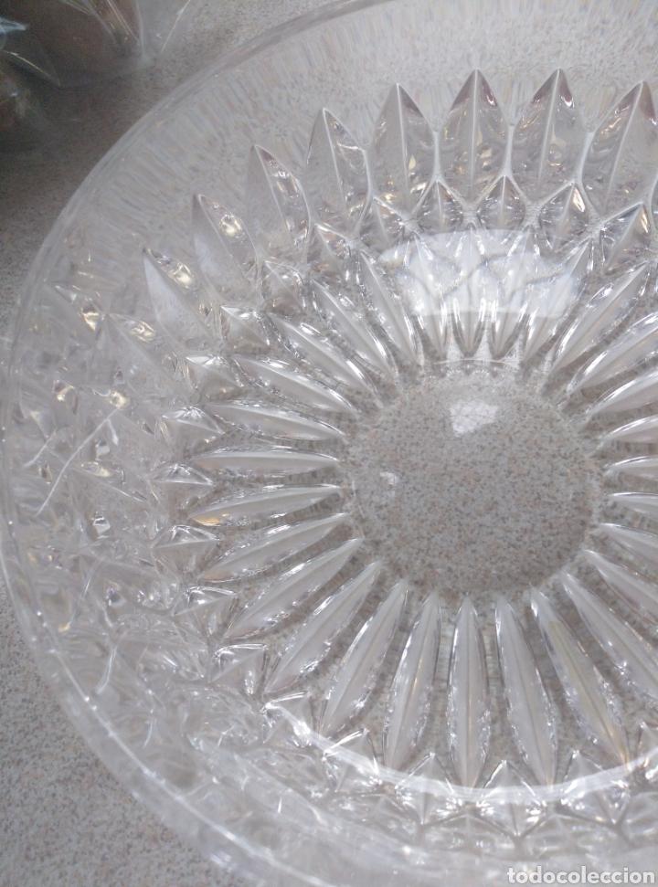 Antigüedades: Bol, ensaladera, frutero cristal tallado inglés. Diámetro 15,50 cm. Altura 7 cm. - Foto 8 - 193389880