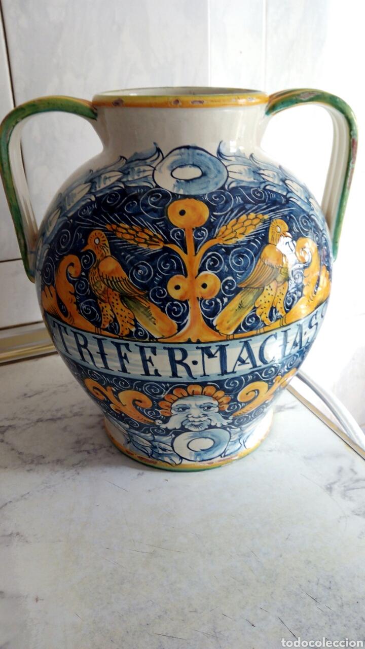Antigüedades: Gran Tarro de Farmacia, 30 x 29 cm, ver fotos. - Foto 3 - 193405952