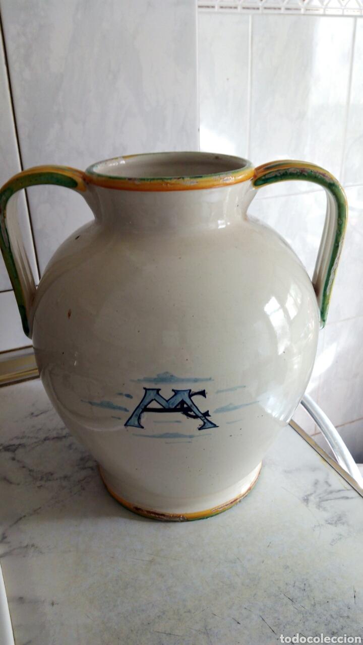 Antigüedades: Gran Tarro de Farmacia, 30 x 29 cm, ver fotos. - Foto 7 - 193405952