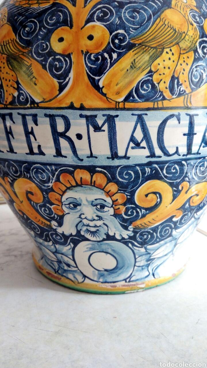 Antigüedades: Gran Tarro de Farmacia, 30 x 29 cm, ver fotos. - Foto 2 - 193405952