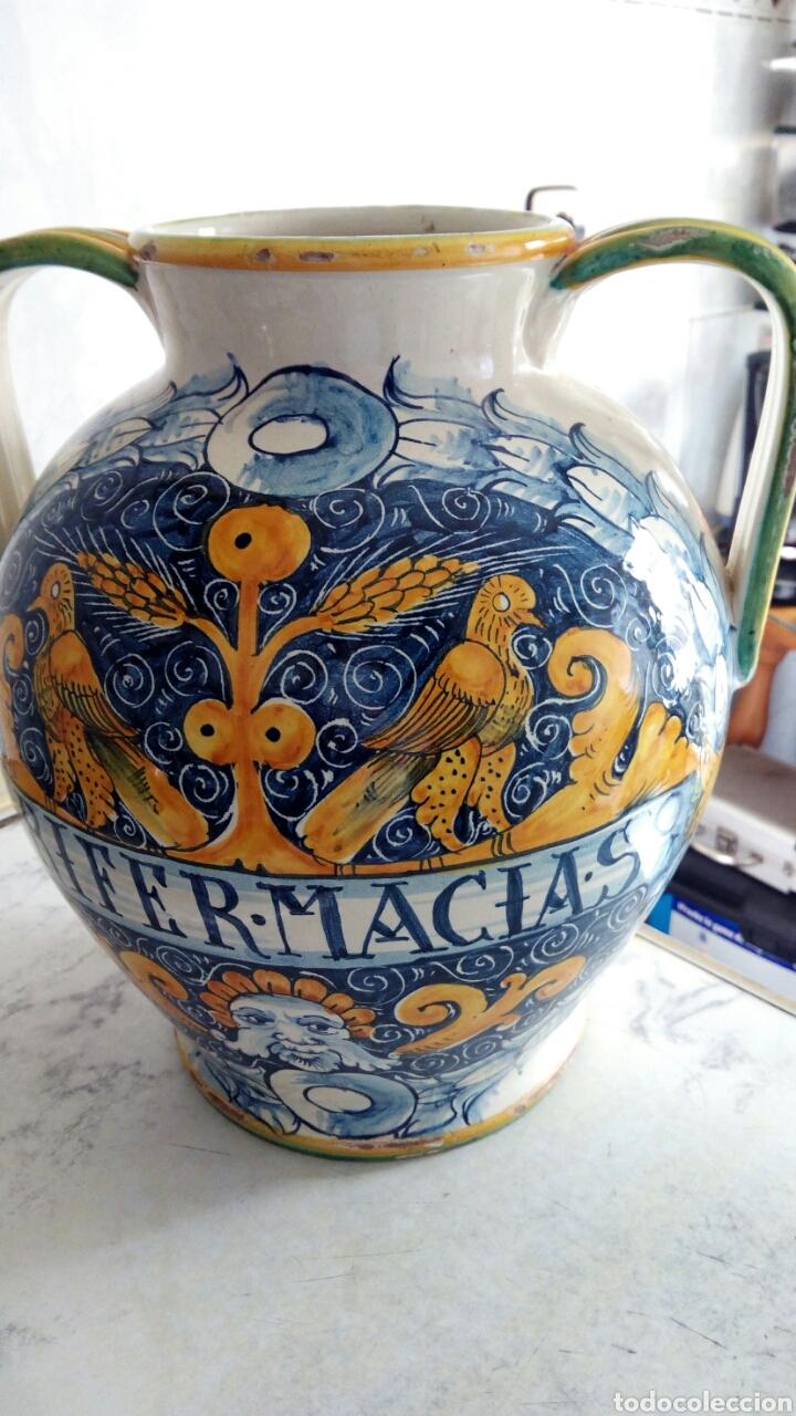 Antigüedades: Gran Tarro de Farmacia, 30 x 29 cm, ver fotos. - Foto 10 - 193405952