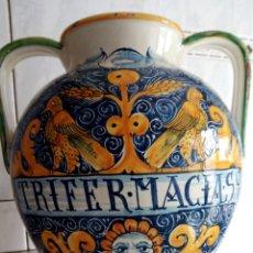 Antigüedades: GRAN TARRO DE FARMACIA, 30 X 29 CM, VER FOTOS.. Lote 193405952